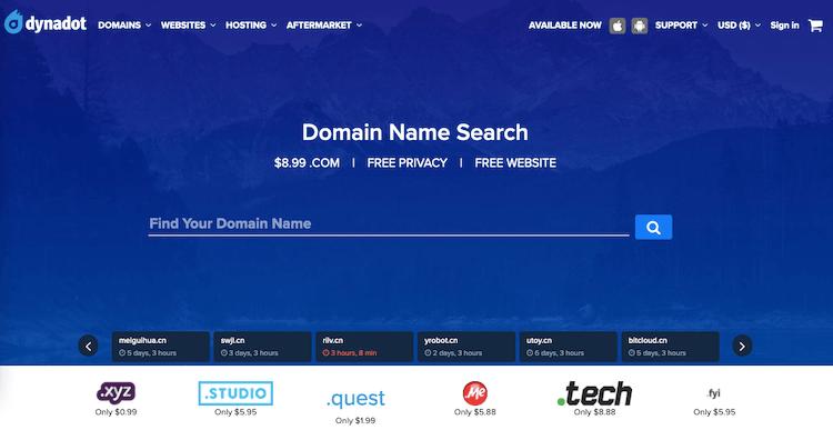 Dynadot for Domain name