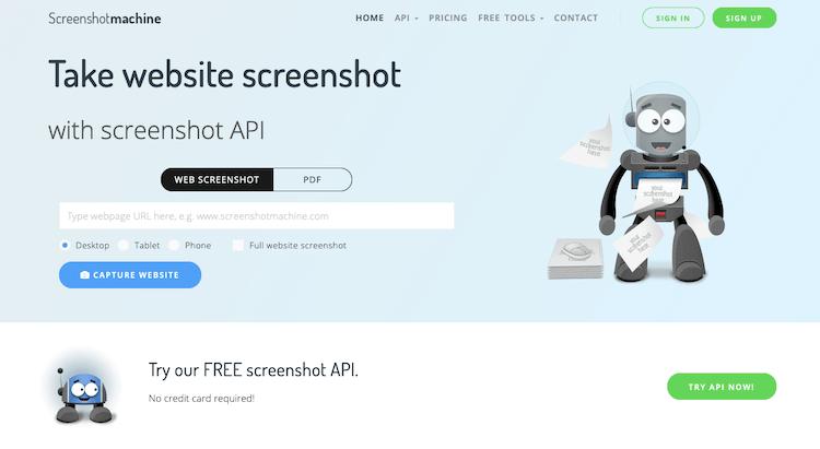 Screenshotmachine for Website screenshot