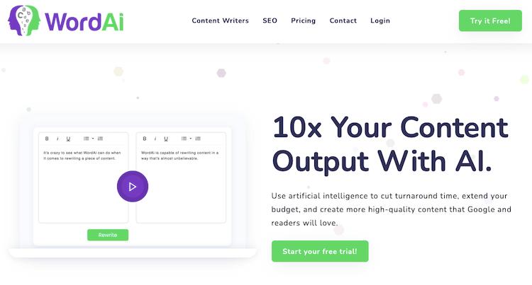 Wordai Rewriter Tool