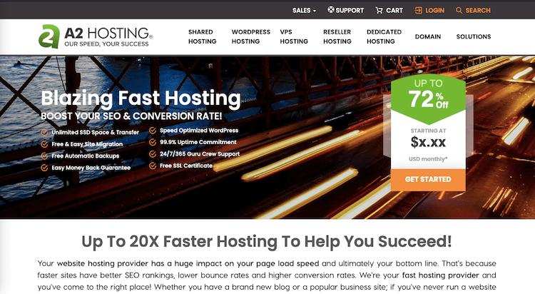 A2hosting Fastest Hosting