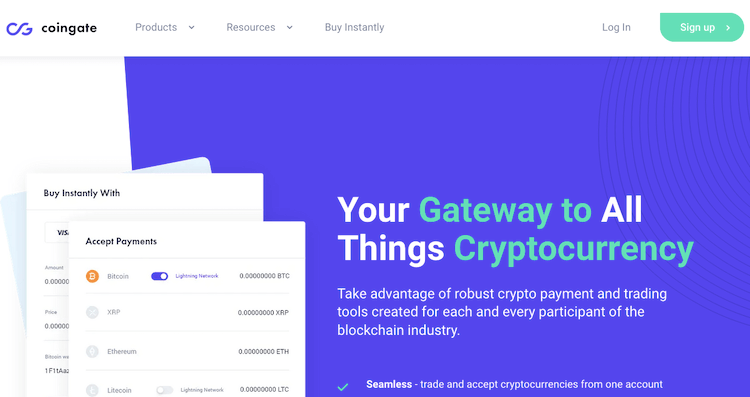 Coingate Cryptocurrency Gateway