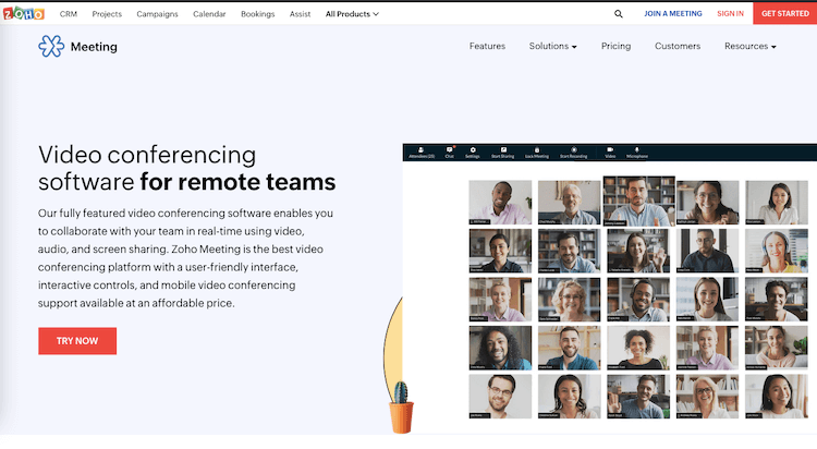 Zoho Video conferencing